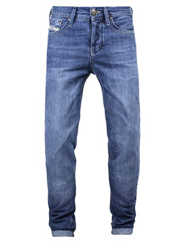 John Doe Original XTM - Light Blue | Motorradhose mit Kevlar | Einsetzbare Protektoren | Atmungsaktiv | Motorrad Jeans | Denim Jeans mit Stretch