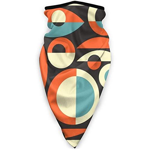 Nother Retro Eames Era - Máscara de Piscis resistente al viento, bandana para la cara, polaina, pasamontañas, color negro