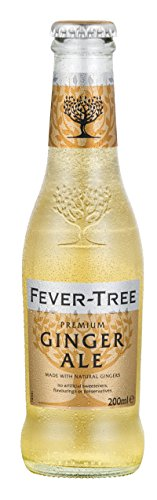 Fever-Tree Ginger Ale 4 x 200 ml (Pack of 6, Total 24 Bottles)