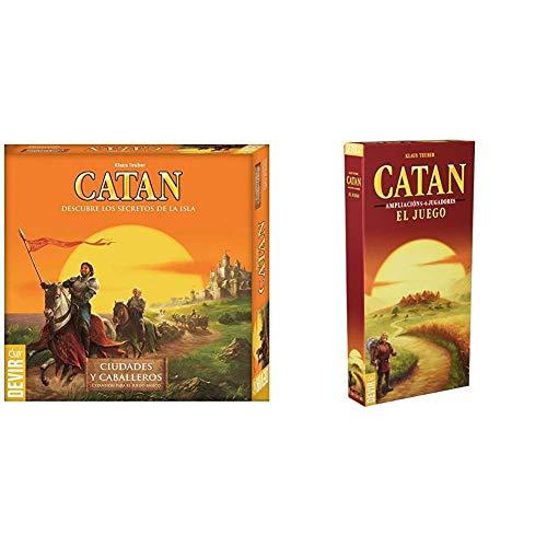 Devir - Expansión Catan: Ciudades y Caballeros, Juego de Mesa (BGCIUDADES) + Catan, Juego de Mesa - Ampliación para 5 y 6 Jugadores (BGCATAN56)