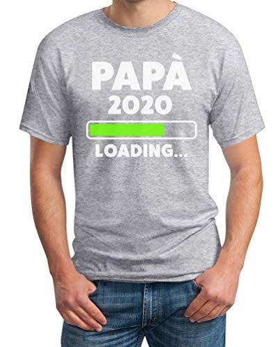 Shirtgeil papà 2020 Loading Idea Regalo per Futuro Padre Maglietta da Uomo Large Grigio