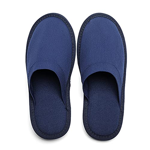 MEMON Mens House Slippers, Memory Foam Men Indoor Slippers, Home Slippers For Men, Unisex Portable Travel Slippers Size 5,6,7,8,9,10,11,12(ME2103-BLU-7/8)