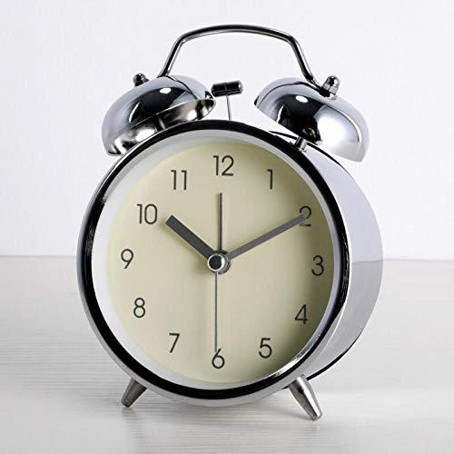 Mzbbn wecker Wecker Bett stumm Wecker männliche und weibliche Studentin Wecker-Helle Silberne Reisnudeln analoge wecker mit lautem Alarm