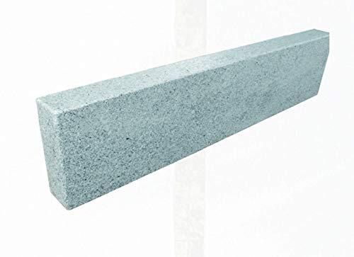 Splittprofi Palisade Granit hellgrau 10x25x150cm allseitig gesägt, geflammt,gefast Edeloptik
