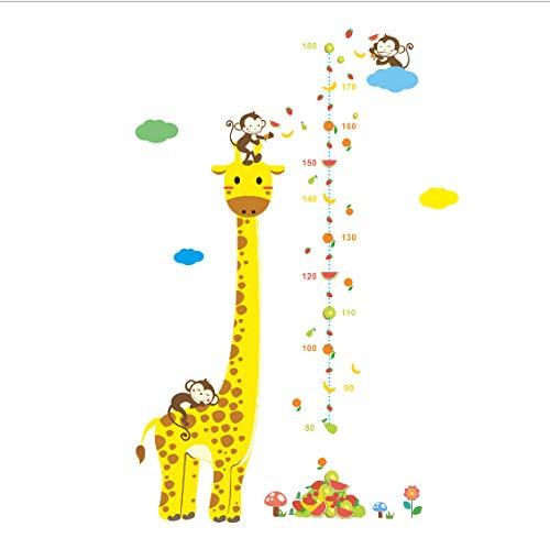 Telémetro gráfico de crecimiento Pegatinas medidor Regla decoración habitación de los niños Pegatinas de pared calcomanías de pared para niños medidor de altura vinilo 50 * 70 cm