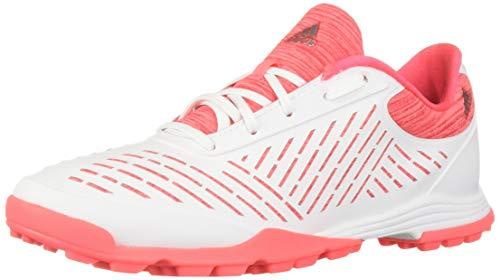 adidas Women's Adipure Sport 2 Golf Shoe, FTWR White/red Zest/Active Pink, 8 M US