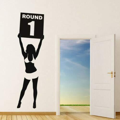 JUDING Glamour Mädchen Boxen Sport Fußball Wandtattoos große Kinderzimmer Wandtattoo PVC abnehmbares selbstklebendes Vinyl 31x88cm