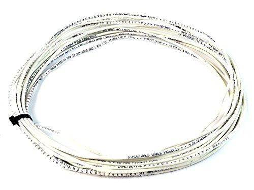 50' ft 22 Gauge 2 Conductor Solid Security Alarm Wire Cable White