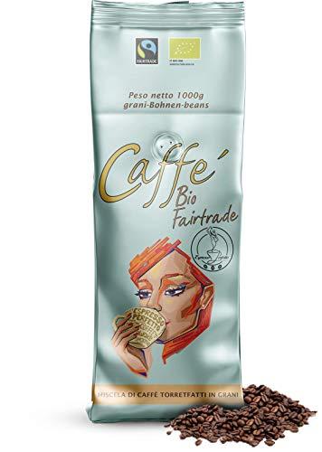 Espresso Perfetto | Bio/Fairtrade | 1000g Beutel | feinfruchtiges, karamellig-nussiges Aroma | Siebträger- und Vollautomaten geeignet