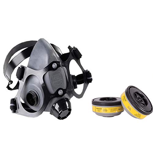 Honeywell Safety Protection Combo of Reusable Respirator Half face & Cartidge Org Vapour/Acid Gas