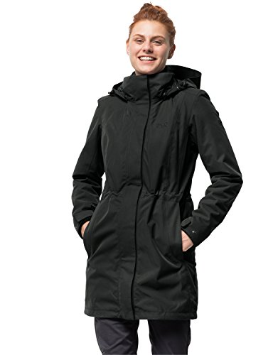 Jack Wolfskin Damen 3-in-1 Mantel Ottawa Coat Jacke, Schwarz (black), XXL