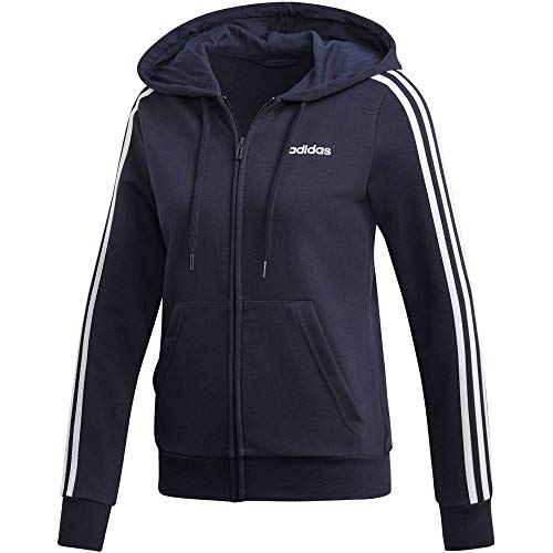 adidas Damen Sweatshirt W E 3S FZ HD, Legend Ink/White, 2XL, DU0656