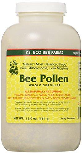 Bee Pollen - Low Moisture Whole Granulars YS Eco Bee Farms 16 oz Granular