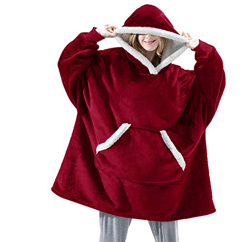 LFNIU Jersey de algodón unisex con capucha pijama camisón albornoz coral polar homewear ropa exterior
