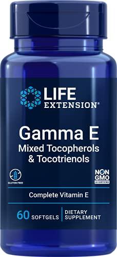 Life Extension E Gamma Tocoferoles Mixtos y Tocotrienoles - 60 Softgels 80 g