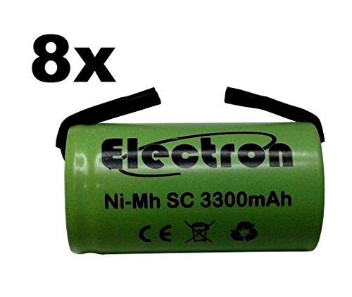 Ni-MH SC Accu 3300 mAh 3.3Ah 1,2 V met soldeerlamellen voor batterijen, boormachines, zaklampen