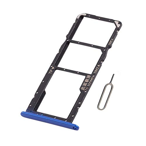 Dual Nano SIM Card Tray+Micro SD Card Holder Slot Replacement for Huawei Honor 8X JSN-L11 JSN-L21 JSN-L22 JSN-L23 /Honor View 10 Lite Blue