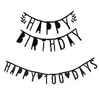 誕生日 飾り付け フェルト ガーランド 飾り 1歳 バースデー パーティー 男の子 女の子 (HappyBirthday)