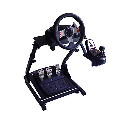 WRISCG Soporte para Volante Soporte de Volante Universal Plegable G27 G29 y T300 T500 Wheel Stand Soporte, para PS4,PS3,PS2,PC,Xbox Volante Wheel Stand