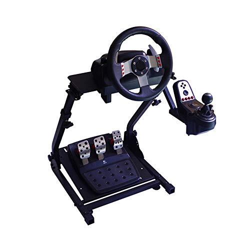 WRISCG Support de Volant pour G29 G27 T500 T300, Monture de Levier de Vitesses, Support de Volant de Carrière Pliable, Support PS3 PS4 Xbox - Réglable pour la Console de Course
