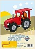 Pebaro 355S - Plantillas para Trabajar con Sierra de marquetería - Motivo: Tractor