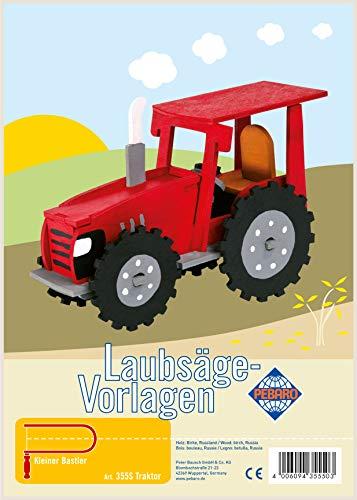 Laubsägevorlage aus Sperrholz Motiv Traktor