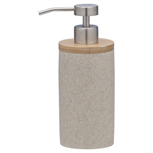 Sealskin Seifenspender Grace, Polyresin, sand, 7 x 9,6 x 18 cm