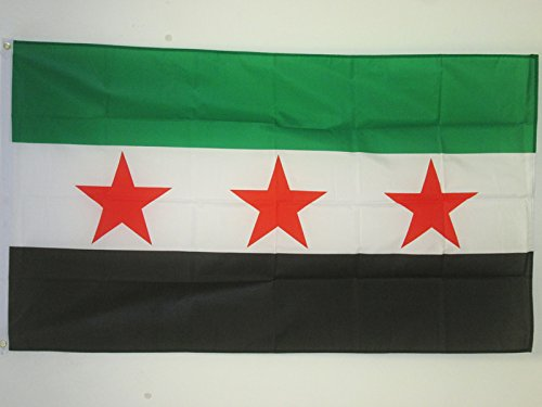 AZ FLAG Flagge FREIE SYRISCHE Armee 90x60cm - SYRIEN Fahne 60 x 90 cm - flaggen Top Qualität