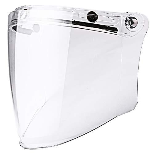 Chern Yueh Máscara de visera transparente para motocicleta de cara media abierta (transparente)