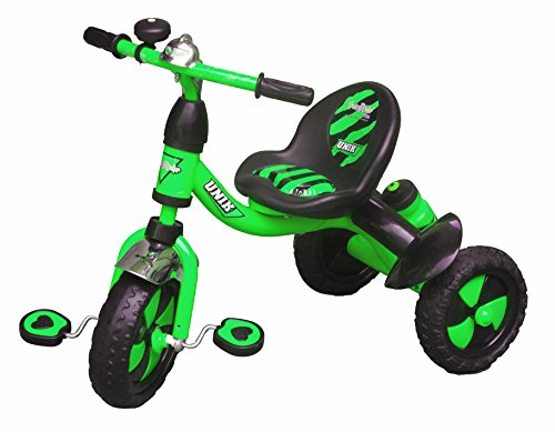Her Home Tricycle for Kids - UNIK Tri-Cycle - with Sipper and Bell for Boys and Girls (1 Year - 4 Years)