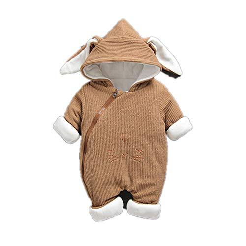 Guy Eugendssg Newborn Winter Cotton-Padded Clothes Toddler Jackets Infant Warm Romper Jumpsuit For Baby Boys Girls Rabbit Khaki 12M