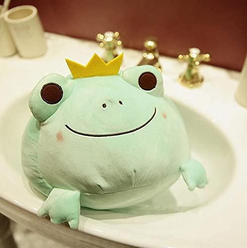 XINQ 35-42cm Super Crown Frog de Relleno Big Eyes Ojos de algodón Rana Ranos Almohada Mimbrientos Luchas para Niños Boy Girls Sobre42CN GreenFrog (Color : Greenfrog, Size : About42cn)