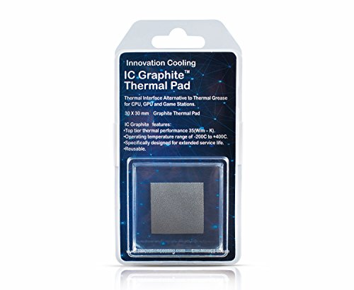 Innovation Cooling Graphite Thermal Pad – Alternative to Thermal Paste/Grease (30 X 30 mm)