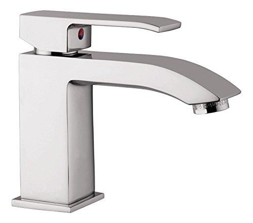 'aquaSu® Einhandmischer Sondrio für Waschtisch | Chrom | Wasserhahn | Einhebelmischer