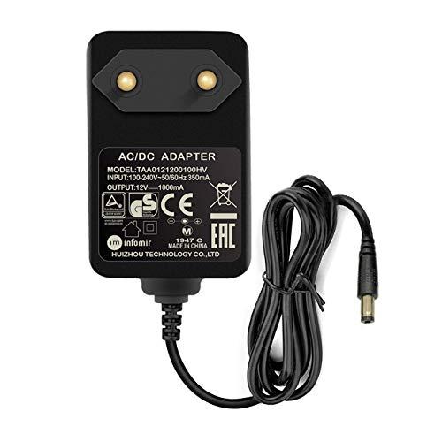 Infomir 12V Kamera Netzteil Adapter DC 1A (1000Ma) AC 100-240V Netzgerät Trafo EU Stecker Netzteil für LED-Streifen, CCTV-Kamera, Cisco Router, Yamaha-Tastatur