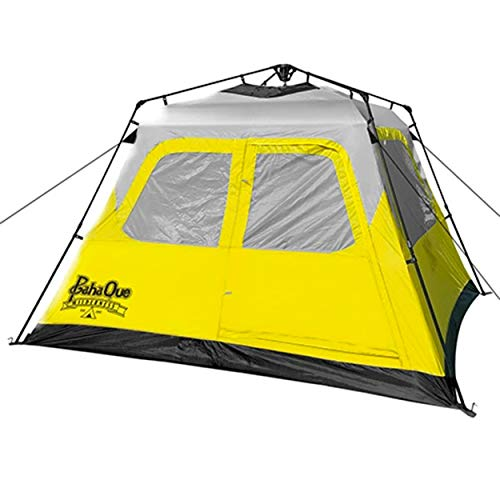 PahaQue Basecamp 6 Person Quick Pitch Tent, Instant Family Tent, Easy Setup with Stakes, Guy Lines, and Carry Bag