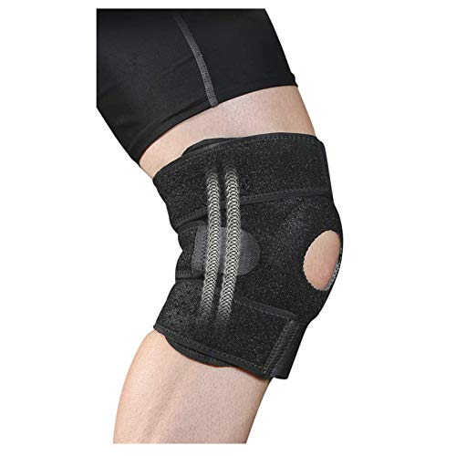 Kniebandage Damen Herren,Verstellbare Kniestütze für Sport, Fitness, Verletzungen des Meniskus und Gelenkschwerden, Passt rechts und links