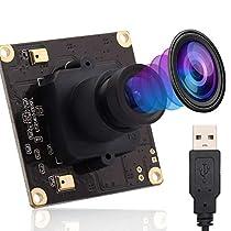 ELP 4K Usbカメラ 超小型 ウェブカメラ 3.6mmレンズ カメラ フルH...
