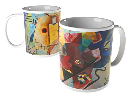 weewado Wassily Kandinsky - Gelb - Rot - Blau - 8x9.7 cm - Tasse - Kunst, Gemälde, Foto, Tasse mit...