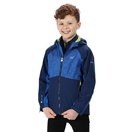 Regatta Kinder \'Hydrate IV\' Reflective Waterproof 3-in-1 Jacket Jacke, Preußisch/Oxford-Blau, 7-8