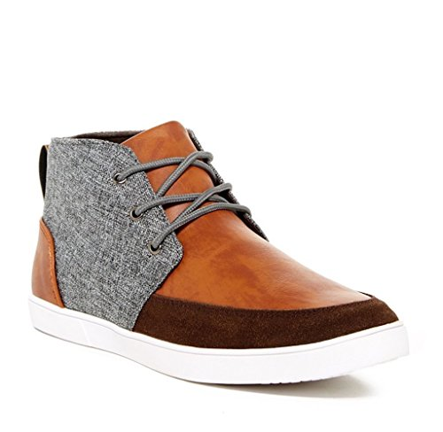 Giraldi Martin-G Mens Fashion All-Vegan Contrast Chukka Sneakers, Tan/Grey, Size 13, US