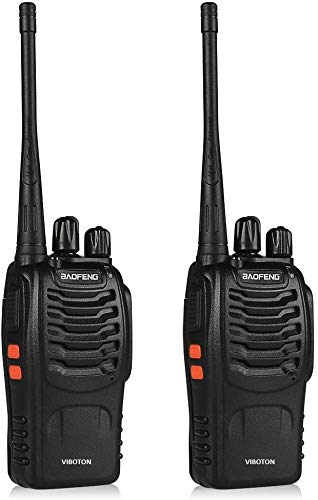 VIBOTON BF-888s UHF High Power Intelligent FM Illumination Flashlight Walkie Talkie Two-Way Radio