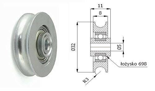 Zabi Fahrbahnrollen metallrollen für das Rohr d = 30 mm , Transportrollen