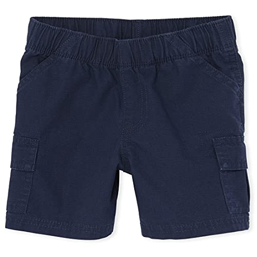 The Children's Place Boys Baby and Toddler Uniform Pull On Cargo Shorts, Tidal, 3T