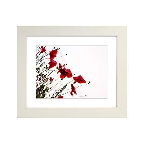Getailleerde frames-whitesquare design fotolijst afmeting 80 x 60 cm voor 70 x 50 cm met witte passe-partout, om op te hangen.