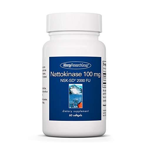 Allergy Research Group - Nattokinase NSK-SD 100mg - Cardiovascular/Circulatory Health - 60 Softgels