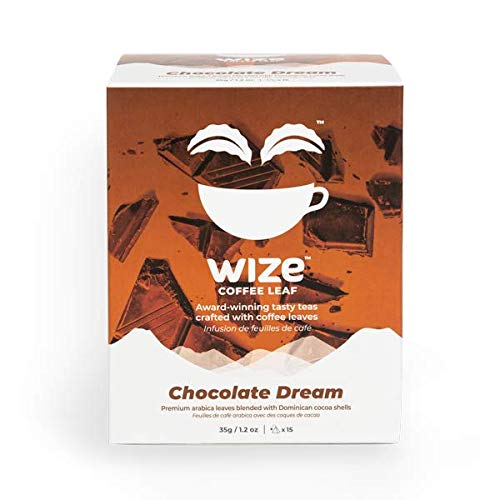 Wize Chocolate Dream Tea, Tea Bags or Loose Leaf Tea Option, Low Caffeine, Antioxidant Rich, Smooth Taste, 15ct Tea Bags