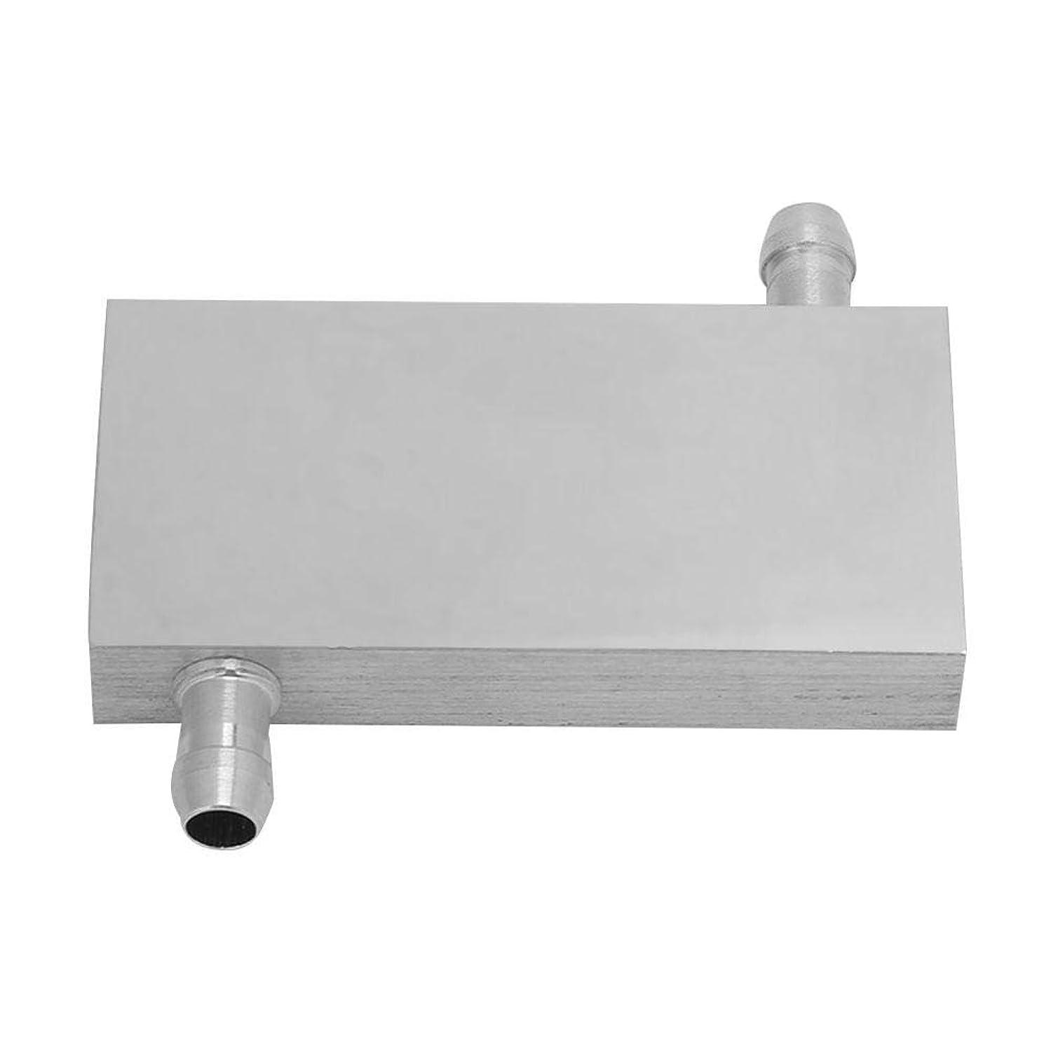 Water Cooling Block, Aluminum Water Cooling Block Waterblock Cooler Water Cooling Head Light & Right Effluent for CPU Graphics Radiator Heatsink(40 80 12mm)
