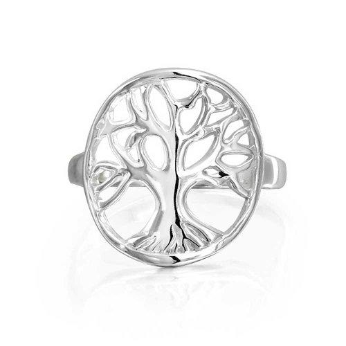 Runde Offener Kreis Keltische Familie Baum Des Lebens Ringe Für Damen Für Jugendlich 925 Sterling Silber