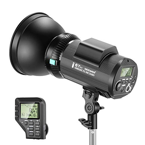Neewer i6T EX 600W TTL HSS Studio Strobe Flash Monolight Compatible with Canon, 2.4G Wireless Trigger/Modeling Lamp/Recycle in 0.2-1 Sec/Lithium Battery(up to 400 Full Power Flashes)/Bowens Mount